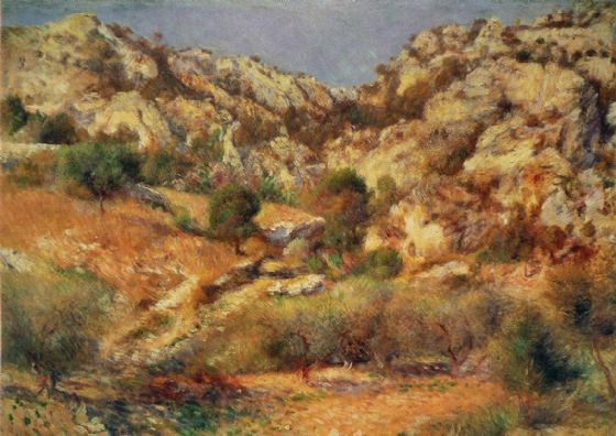 Renoir, Pierre Auguste: Rocks at L'Estaque. Fine Art Print/Poster. Sizes: A4/A3/A2/A1 (004273)